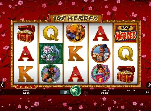 108 Heroes casino slots