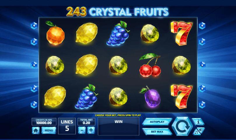 243 Crystal Fruits Casino Slots