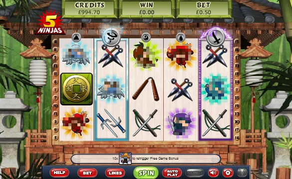 5 Ninjas Casino Slots