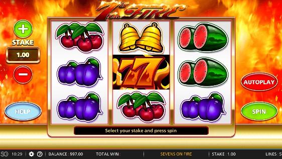 7s on Fire Casino Slots