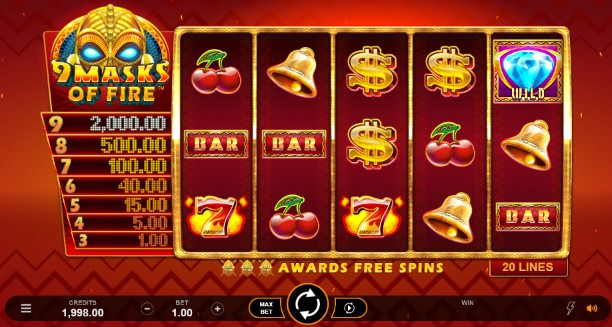 9 Masks of Fire Casino Slots