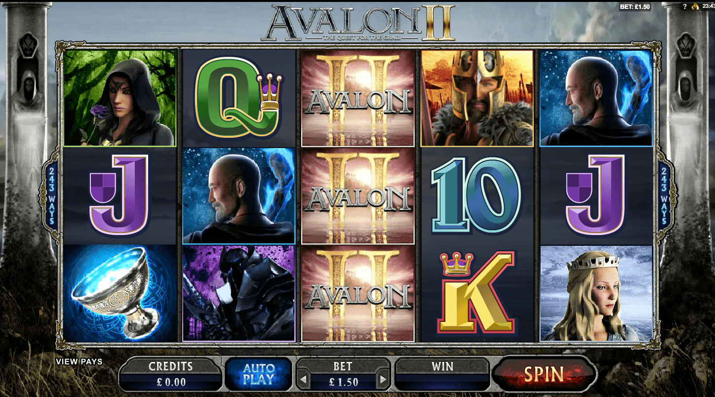 Avalon II- Quest for The Grail Casino Slots