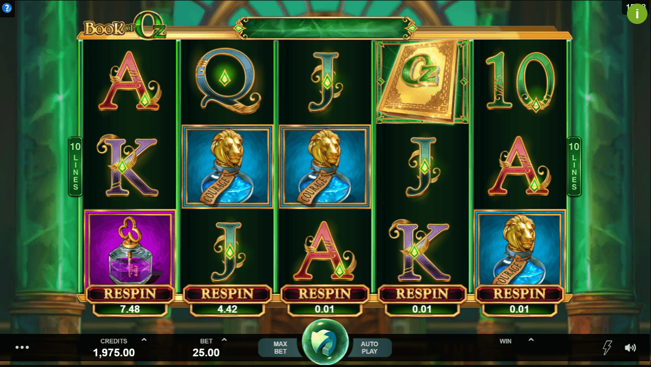 Book of Oz Casino Slots