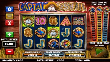 Captain Cashfall Casino Slots