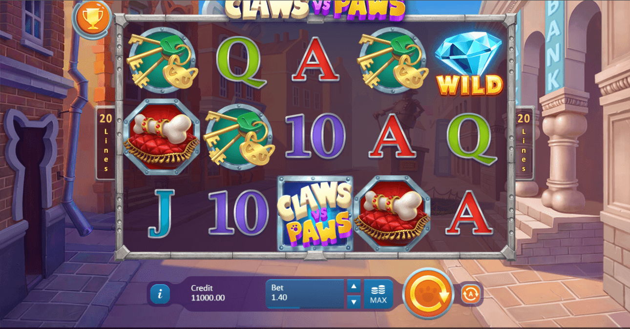 Claws vs Paws Casino Slots