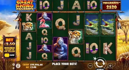 Great Rhino Megaways Casino Slots