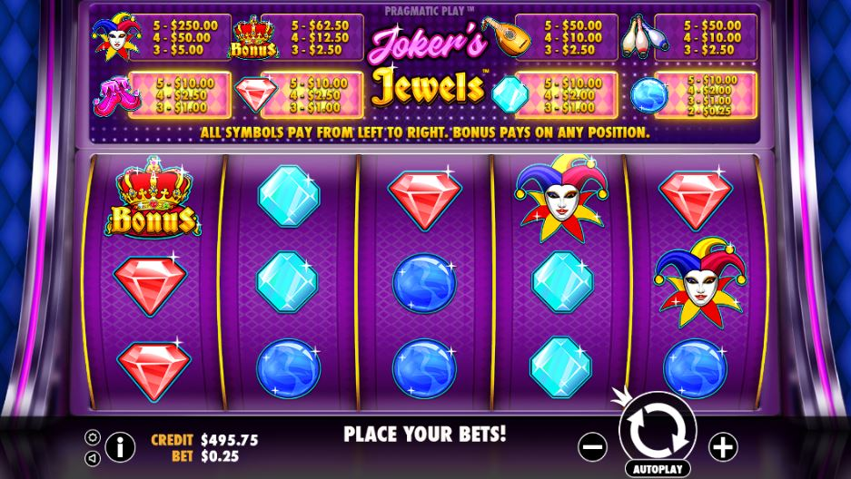 Joker's Jewels Casino Slots