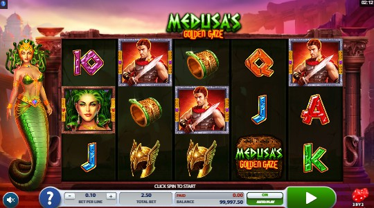 Medusa's Golden Gaze Casino Slots