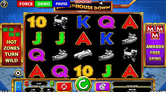 MONOPOLY Bring the House Down Casino Slots