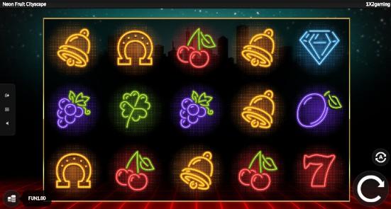 Neon Fruit Cityscape Casino Slots