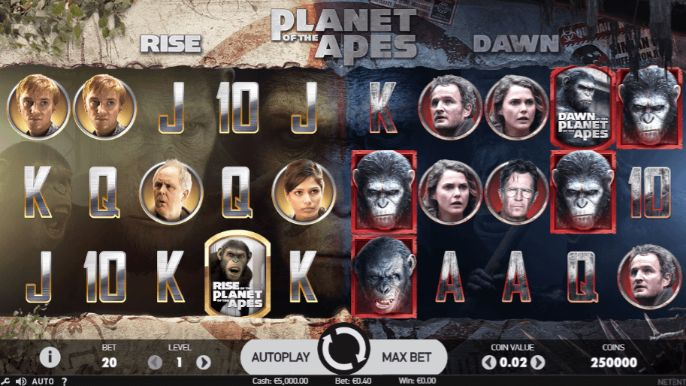 Planet of the Apes Casino Slots