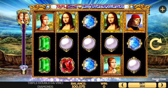 Triple Double Da Vinci Diamonds Casino Slots