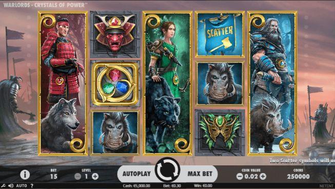 Warlords – Crystals of Power Casino Slots