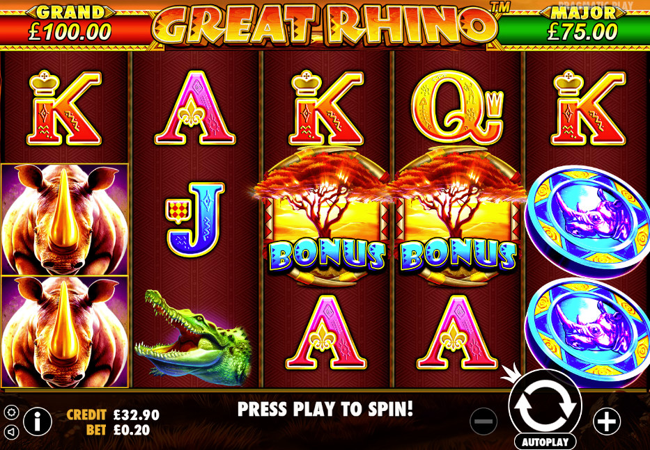 Great Rhino Casino Slots