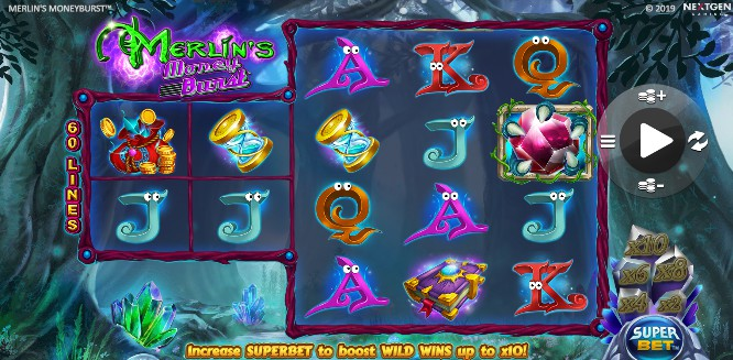 Merlin's Money Burst Casino Slots